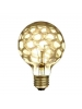 Bulbrite 144025 - 40W - Amber Marble - G25 - Medium E26 Base - 120V - Crystal Collection